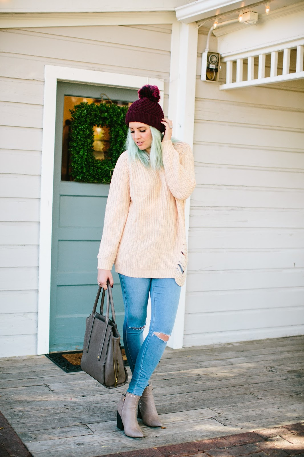 Fall Outfit, Fall Style, Blue Hair