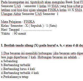 Soal-Ulangan-Ujian-UAS-FISIKA-kelas-10-X-SMA-Semester-1