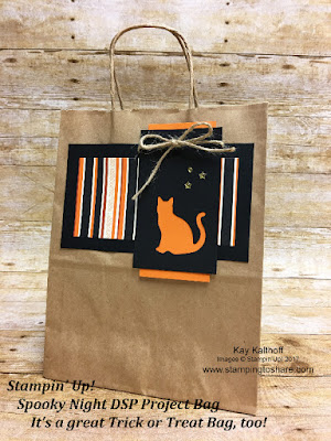 Stampin' Up! Spooky Night Project Bag. It's a great Trick or Treat bag, too! Stamping to Share Fall Flair 2017.