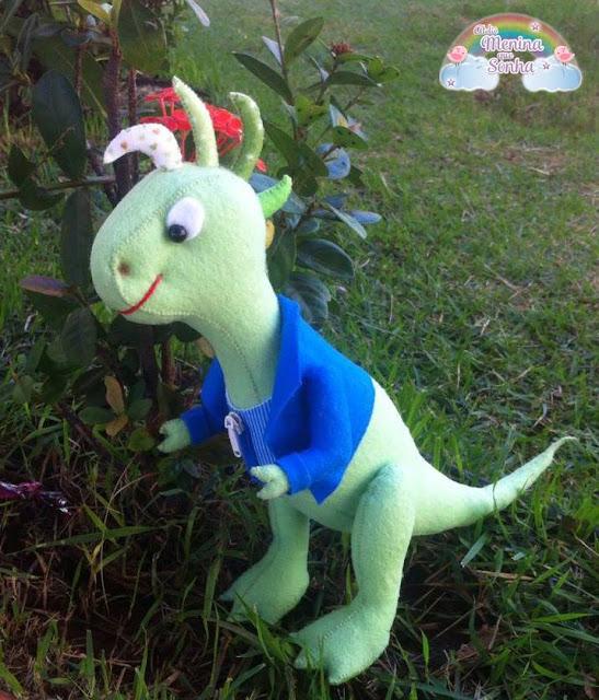 Dinossauro Rex em Feltro