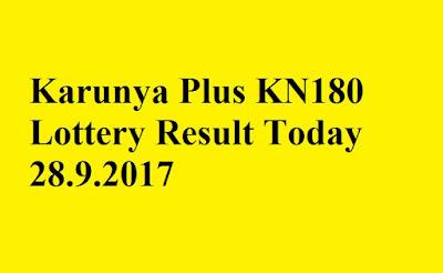 Karunya Plus KN180 Lottery Result