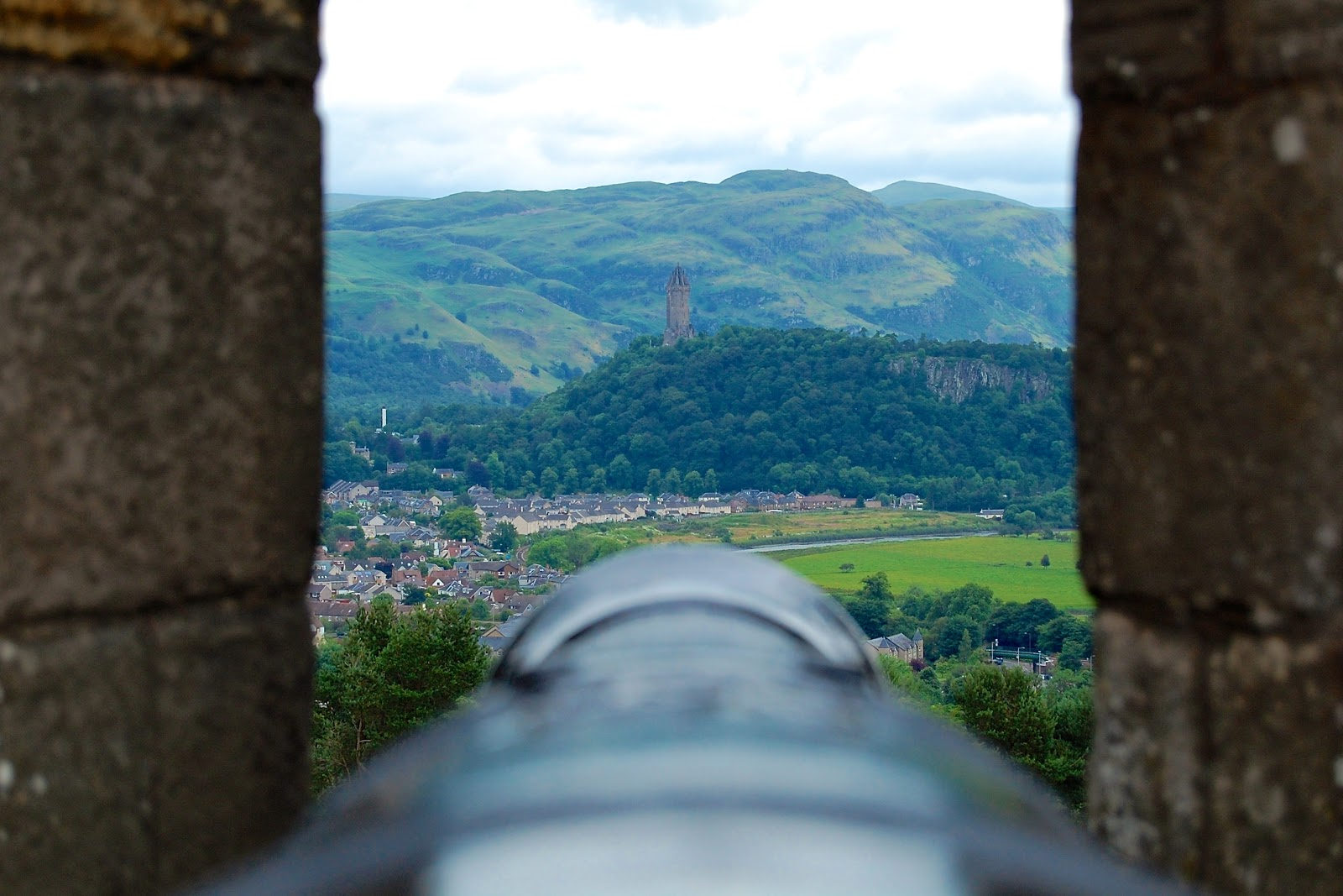 View from the Grand Battery at Stirling Castle toward the William Wallace Monument