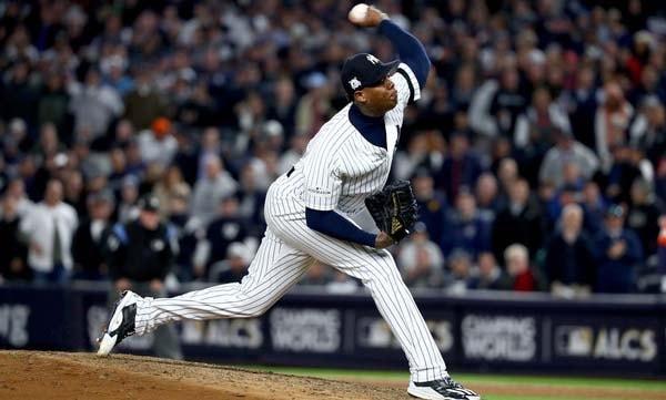 A estas alturas de la campaña, el cerrador de los Yankees tiene 46 ponches, con 11 bases por bolas en 26 episodios y dos tercios, con solo 13 hits tolerados, 4 limpias y ningún jonrón, además de un increiblemente bajo whip de 0.90