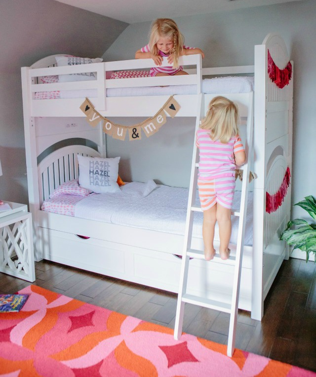 Awesome A sibling shared bedroom full of colorful details with Hayneedle Design Improvised