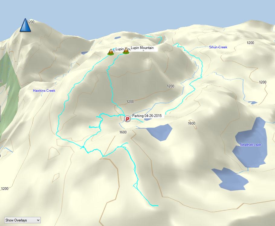 Mount Beadnell Map, Rodgers Ridge Map