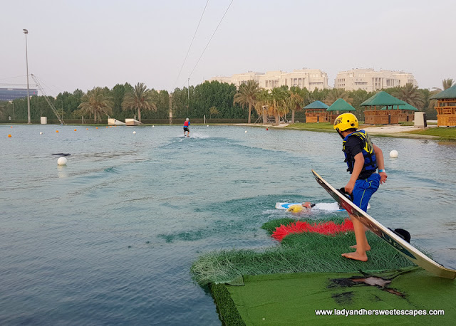 beginners lake in Al Forsan Abu Dhabi