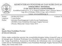 Surat Edaran Pendaftaran INOBEL Tahun 2018