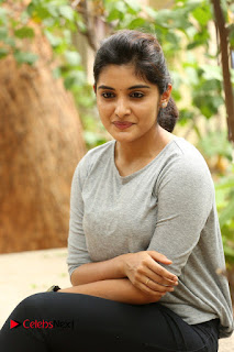 Actress Niveda Thomas Pictures in Black Jeans at Gentleman Movie Interview  0067