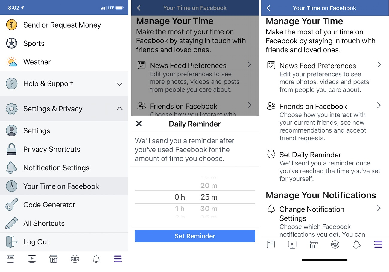 Facebook is finally rolling out its 'how long do I spend on Facebook' dashboard
