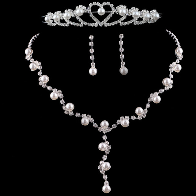 Pearl Wedding Jewelry Sets For Brides