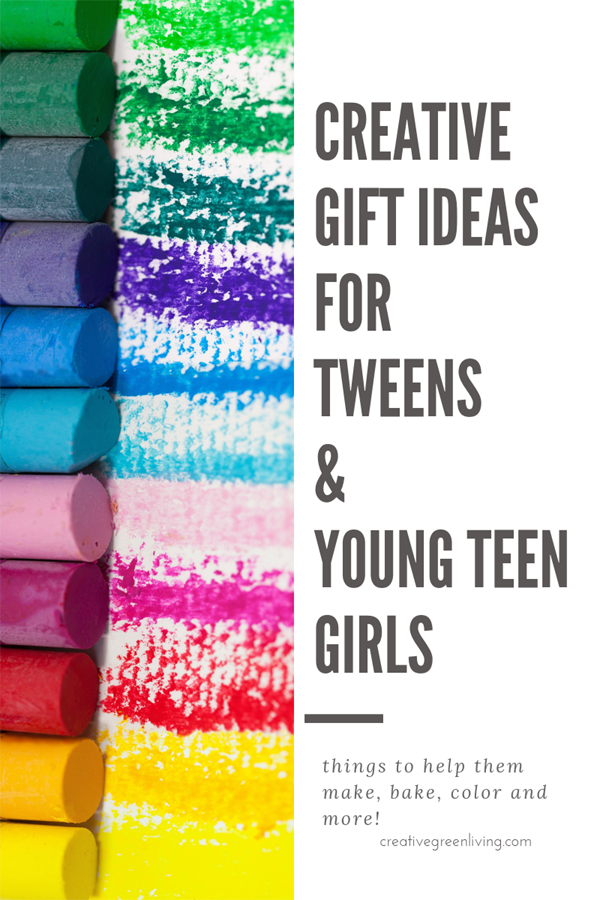 Need Christmas gift ideas for girls? These creative gifts for tween and young teen girls will help them make awesome DIY projects, have fun in the kitchen, make bath bombs for mom and more! #creativegreenchristmas #creativegreenliving #tweens #youngteens #tweengifts #teengifts #christmasgiftideas #giftguide