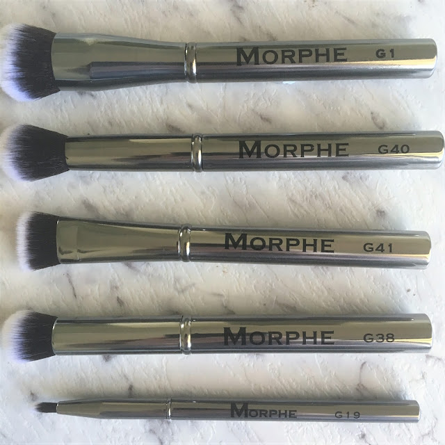 Morphe Brushes G1, G40, G41, G19, G38 Gunmetal Edition Makeup Brushes from MorpheMe May 2017