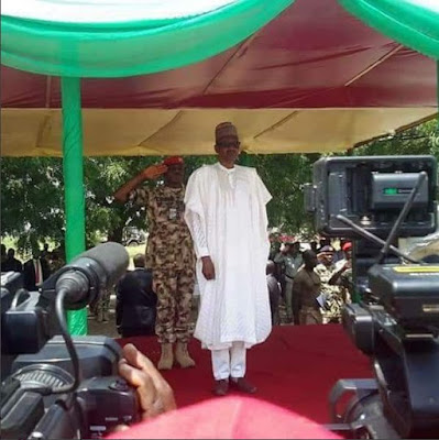 President Buhari visits Soldiers in Borno3 - 9JA NEWS: #NigeriaAt57.... President Buhari is spending Independence Day with Troops in Borno(Photos)