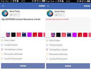 Cara Membuat Tulisan Berwarna-Warni Seperti Pelangi Di Status FB