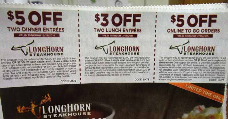 image about Longhorn Steakhouse Printable Coupons referred to as Longhorn coupon codes oct 2018 / Chase coupon 125 hard cash