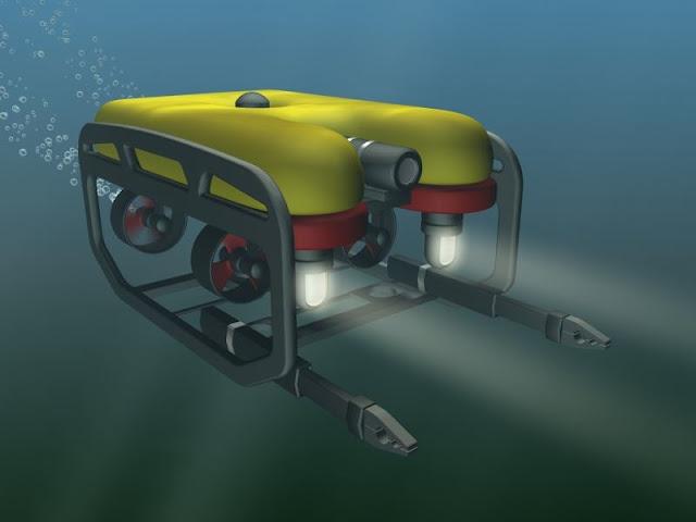 Ilustrasi robot yang digunakan untuk mencari korban KM Sinar Bangun yang tenggelam di Danau Toba.