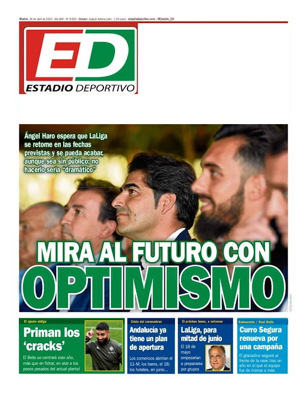 "Betis, Estadio Deportivo: ""Mira al futuro con optimismo"""