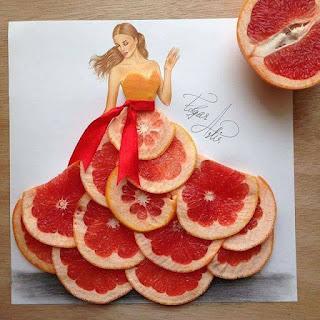 رسمة للفنان إيدجر باستخدام البرتقال الدموي