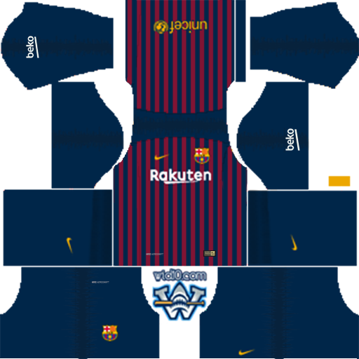 Barcelona - 2018/2019 Dream League Soccer DLS/FTS Kits Forma