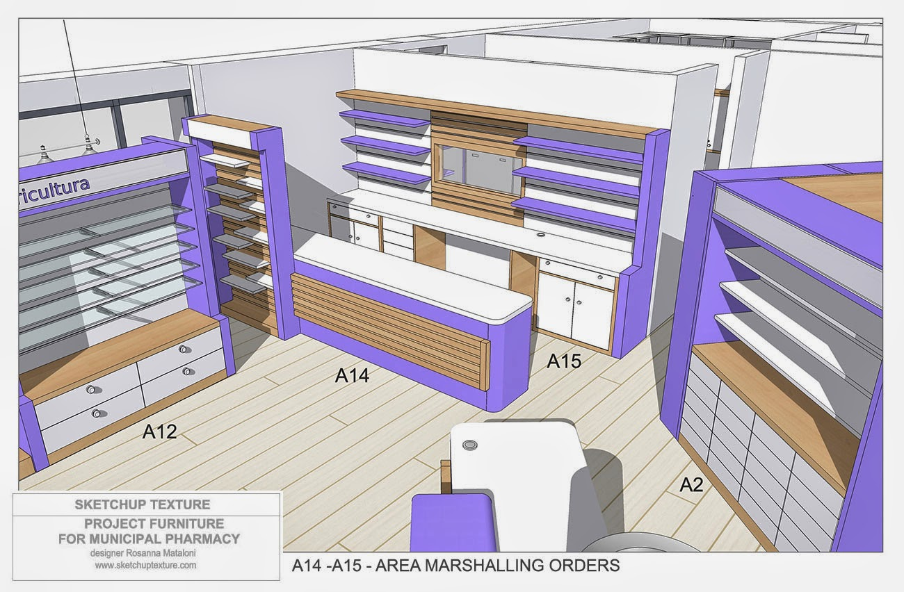 sketchup texture how to design a modern pharmacy 3d sketchup model