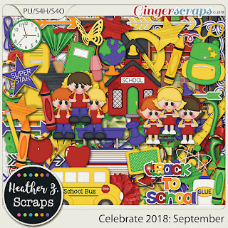 Ginger Scraps Celebrate 2018: September BUNDLE by Heather Z Scraps and Blue Heart Scraps: A Year of Blessings! September 2018 and Freebie
