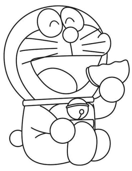 40 Gambar Mewarnai Kartun Doraemon Upin Ipin Lucu