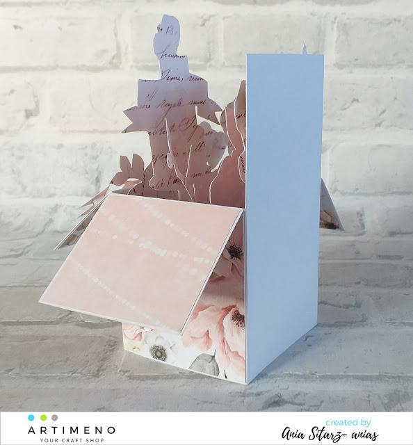 miejsce na życzenia w pudełku pop up