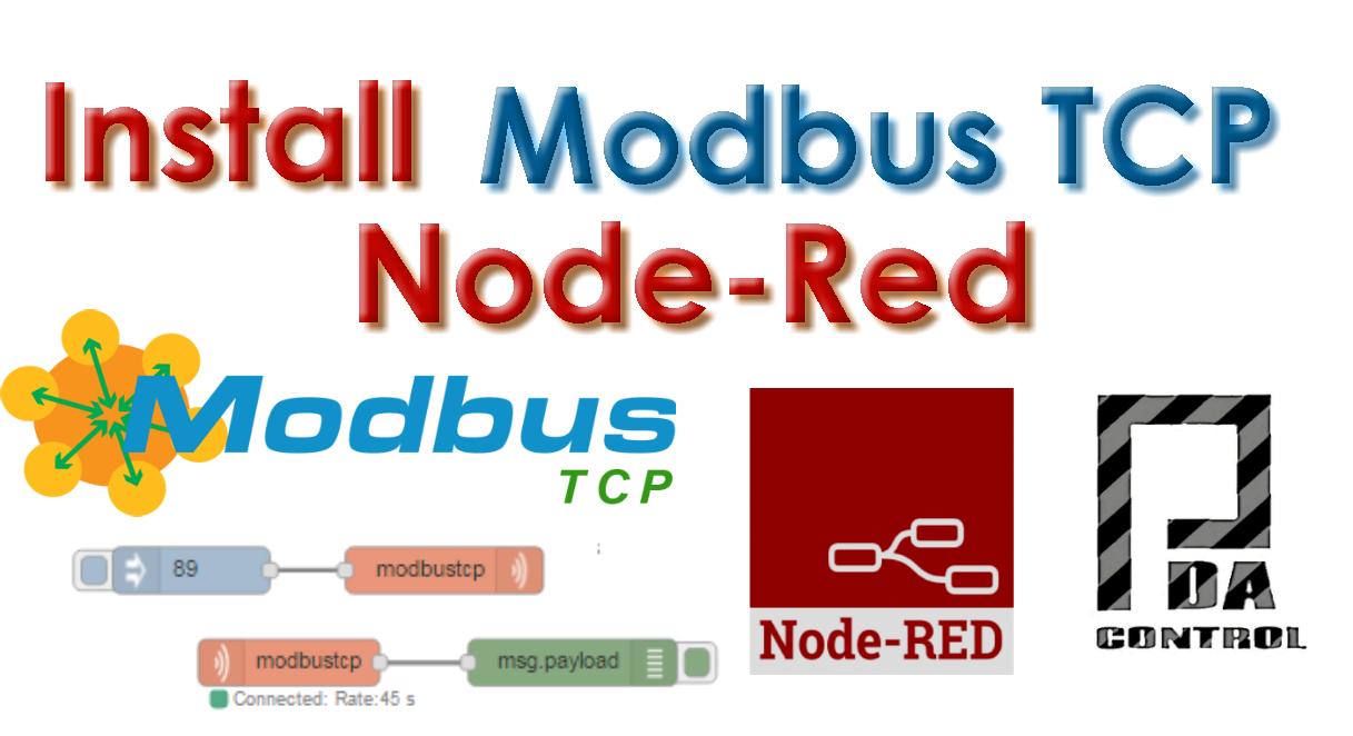 Installation node Modbus TCP Node Red - PDAControl