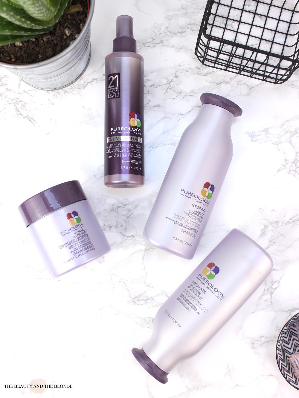 Pureology Hydrate Reihe Haarpflege Produkte Coloriertes Haar Review