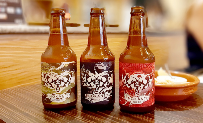Engkanto Craft Beers variants available in Davao.  Double IPA, Lager and Pale Ale