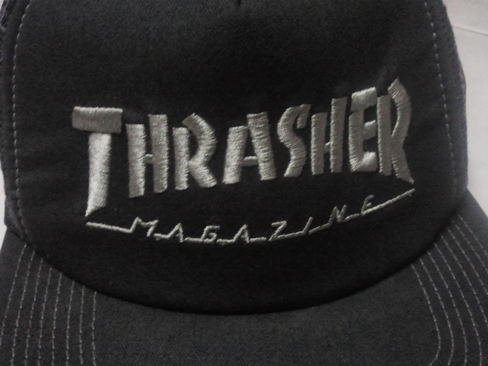 5844df62d84 (WL-1976) Logo Embroidered Mesh Snapback By Thrasher Magazine Headwear