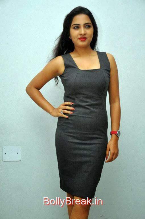 Srushti Dange Pics in Black Dress, Srushti Dange Hot Pics from Darling Tamil Movie Audio Launch