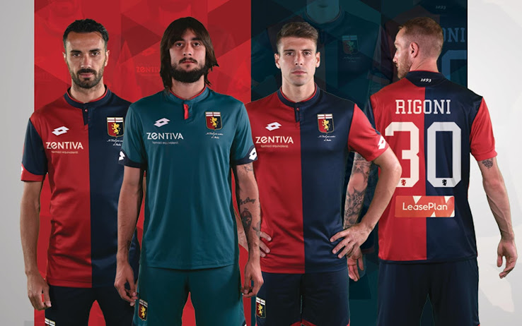 980c5bd6ccc Genoa 17-18 Home   Away Kits Revealed - Footy Headlines