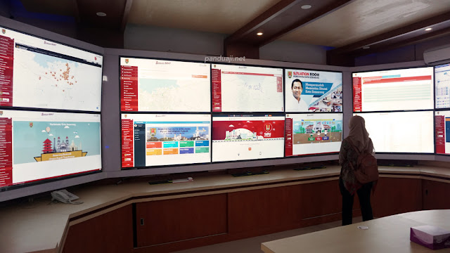 Monitoring room di Kantor Walikota Semarang