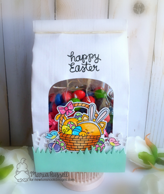 Easter Cat Treat Bag by Maria Russell | Newton's Easter Basket Stamp Set by Newton's Nook Designs #newtonsnook #handmade