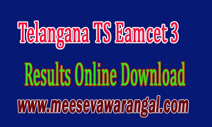 Telangana TS Eamcet III Results Online Download