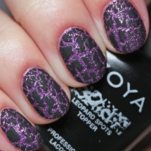 Zoya ZP967 Leopard Spots Topper over ZP971 Cookie