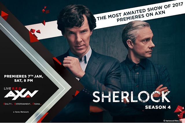 Sherlock season 4 premieres on AXN on 7th January