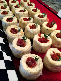 Savory Brie & Rosemary Cheesecakes