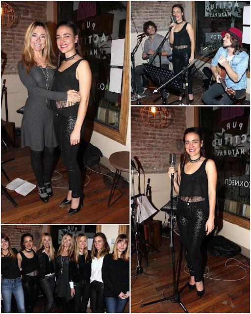 La hija de la trilliza de oro Maria Emilia, Sonia Zavaleta presentó con su banda en Tea Connection