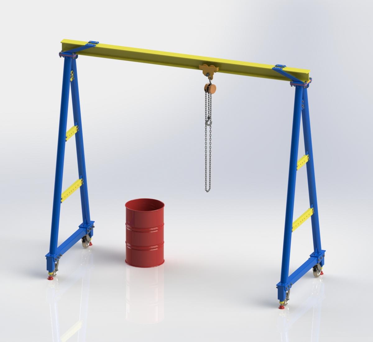 5011  hoist gantry crane download free 3d cad models