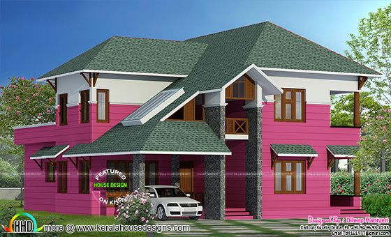 European model slanting roof home