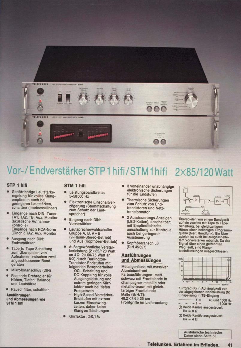 Infrequent Sound [sex.tex] technology: Telefunken STP1 HiFi Stereo ...