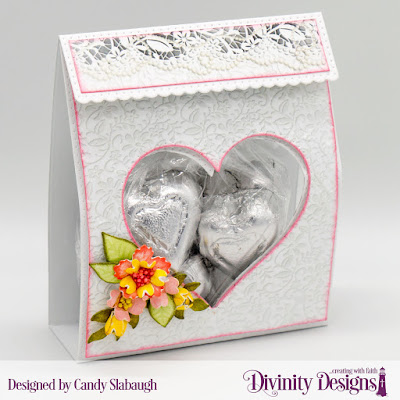 Custom Die: Festive Favors  Paper Collection: Wedding Wishes  Embossing Folder: Flourishes