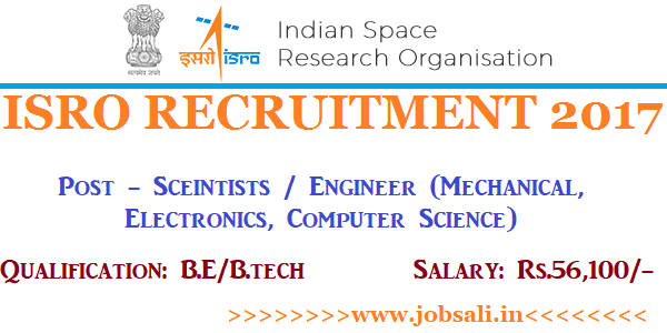 ISRO Careers, ISRO Online application, ISRO Scientists vacancy