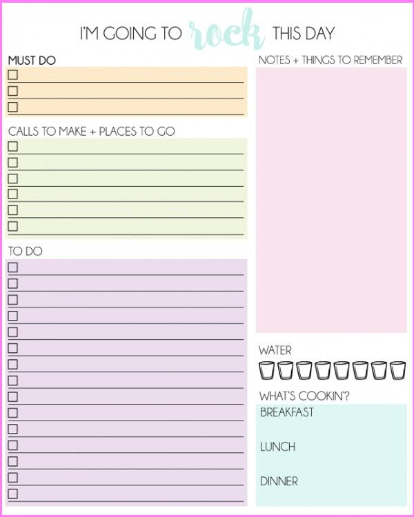 daily planner printables personal planner scattered squirrel ...