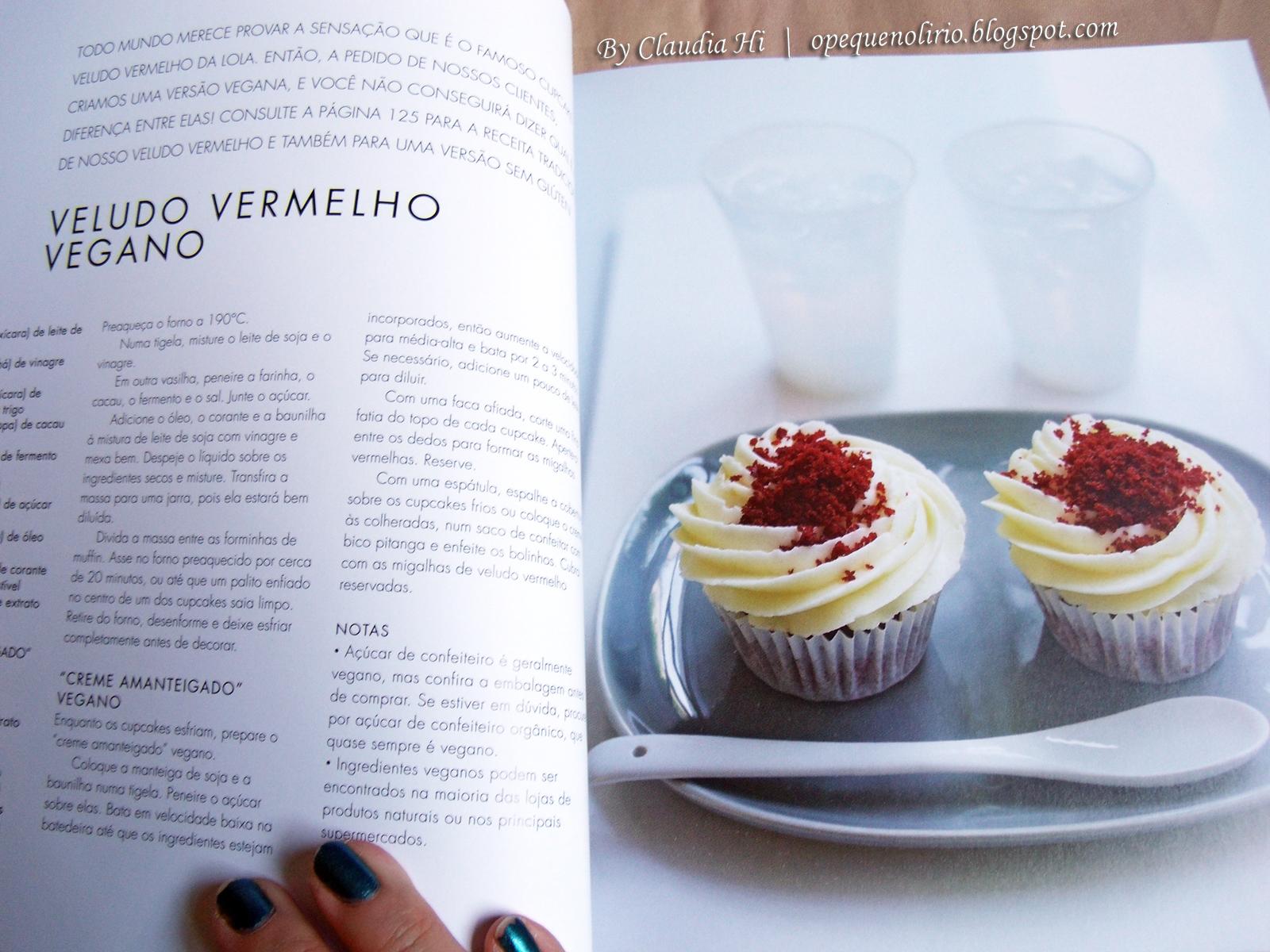 receita veludo vermelho Fazendo Cupcakes com Lola