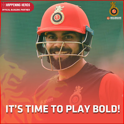 RCB Team, KKR vs RCB 2018, Virat Kohli RCB 2018, Royal Challengers Bangalore 2018, IPL News, Play Bold, #PlayBold