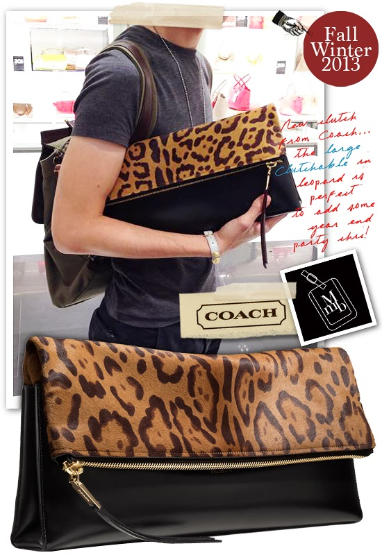 0bd689ebd3a1d5 Below: Discreet in branding and making a strong style statement thru design  is what draws me to this clutch bag... Coach's The Large Clutchable also  comes ...