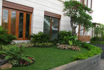 Model Taman Minimalis di Samping Rumah